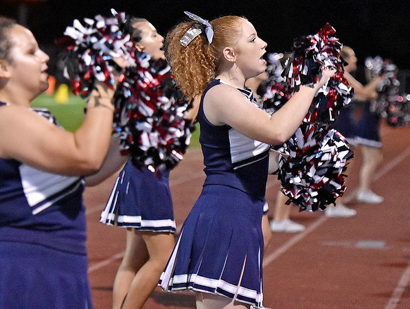 (Brad Davis/The Register-Herald) Indy cheerleaders perform Thursday night in Shady Spring.
