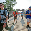 Scouts make their way across the Console Energy Bridge during the 2017 National Jamboree at The Summit Bechtel Reserve near Mt. Hope. (Chris Jackson/The Register-Herald)