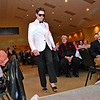 (Brad Davis/The Register-Herald) Joe Putrelo during individual introductions at the annual Hunks in Heels fundraising event for the Women's Resource Center Friday night at the Beckley Moose Lodge.