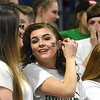 Fayetteville student section during the Class A quarter final game of the Boys State Basketball Tournament held at the Charleston Civic Center Wednesday morning. Madonna handed three-seed Fayetteville its first loss of the season 44-32, <br /> (Rick Barbero/The Register-Herald)