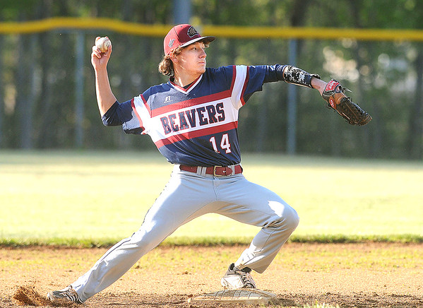 Bluefield second baseman Tyler Lambert turns the front end of a double play during a game against Independence. Jon C. Hancock/for The Register-Herald