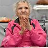 (Brad Davis/The Register-Herald) 100-year-old Loretta Shellow Saturday afternoon.