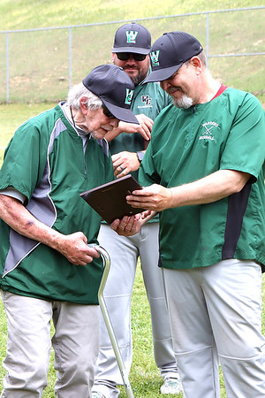 """Coach Ron """"Chief"""" Mayhew receving recoginition for 47 years of coaching."""