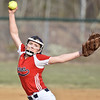 (Brad Davis/The Register-Herald) Independence pitcher Emily Ward delivers during the Patriots' game against James Monroe Friday evening in Coal City.
