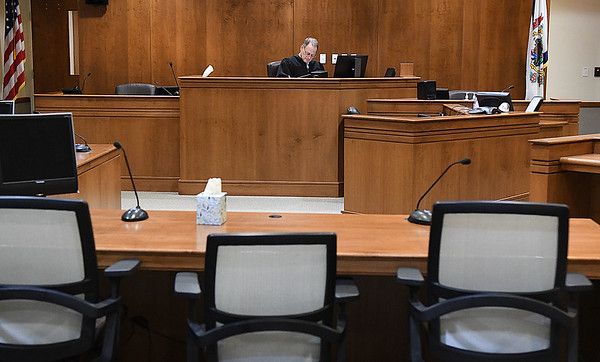 Raleigh County Circuit Judge Darl Poling, held a virtual plea hearing for Hamlet Smith.<br /> (Rick Barbero/THe Register-Herald)