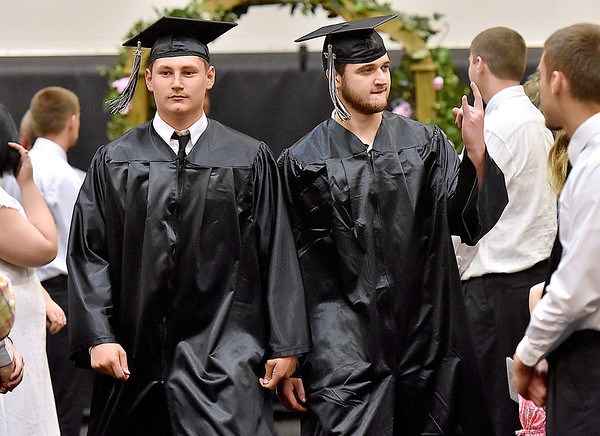 (Brad Davis/The Register-Herald) Graduating Westside seniors make their entrance prior to the school's 2017 Commencement Sunday afternoon in Clear Fork.
