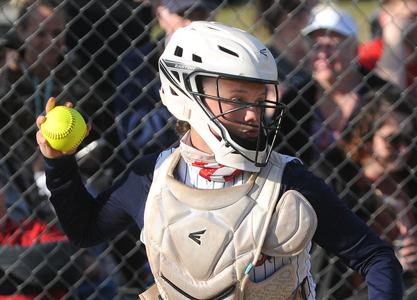 Kaylen Parks, Independence catcher, fires the ball back to the pitcher during a game against Liberty. Jon C. Hancock/for The Register-Herald