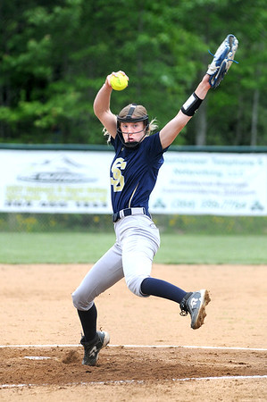 Shady pitcher Paige Maynard pitches to a batter in the first inning of a game against independence. Jon C. Hancock/for The Register-Herald