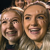 Woodrow Wilson lassies, Louie Boyd, left,  and Clara Lively, during game against Princeton Friday night at VanMeter Stadium in Beckley.<br /> (Rick Barbero/The Register-Herald)