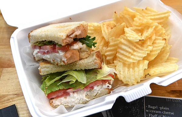 Chicken Salad sandwich at Coffee On Main on Main Street in Beckley.<br /> (Rick Barbero/The Register-Herald)