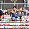 (Brad Davis/The Register-Herald) Shady Spring's Joe Cantley, middle, competes in the 110-meter high hurdles during the Dickey's Invitational Friday afternoon at Independence High School.