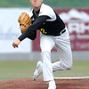 Miners pitcher Andrew Talking throws a fastball to the plate during a game against the Johnstown Millrats. Jon C. Hancock/for The Register-Herald