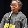 (Brad Davis/The Register-Herald) Monroe County's Haleah Burnside takes a turn during the 2017 Gazette-Mail Regional Spelling Bee Saturday afternoon at Capital High School in Charleston.