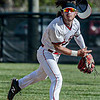 F. Brian Ferguson/Register-Herald Oak Hill Shortstop makes the throw to first for an out during The Red Devils game against Woodrow Wilson on Thursday evening in Oak Hill.