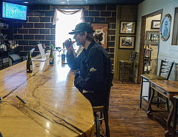 F. Brian Ferguson/Register-Herald  The bar at the Station.