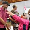 (Brad Davis/The Register-Herald) Scenes from 100-year-old Loretta Shellow's birthday party September 1.