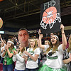 Fayetteville student section cheering during the Class A quarter final game of the Boys State Basketball Tournament held at the Charleston Civic Center Wednesday morning. Madonna handed three-seed Fayetteville its first loss of the season 44-32, <br /> (Rick Barbero/The Register-Herald)