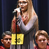 (Brad Davis/The Register-Herald) Nicholas County's Raeana Green takes a turn during the 2017 Gazette-Mail Regional Spelling Bee Saturday afternoon at Capital High School in Charleston.