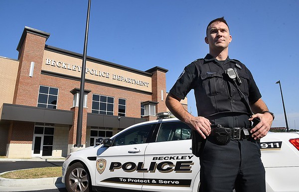 Brian Atterson was just recently promoted to Sergeant at the Beckley Police Department. (Rick Barbero/The Register-Herald)
