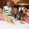 Zetta Underwood, 92, left, Margaret Williams, 70, Melissa Ryan, 47, Ashley Thomas, 26 and Karmyn Thomas, 5, are five generation of woman.<br /> (Rick Barbero/The Register-Herald)