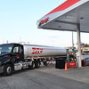 PTC gas tanker from Roanoke, Va. pumps in 3500 gallons of unleaded gas into Krogers at Beckley Crossing empty 20,000 gallon tank. Krogers on Harper Road was also empty and they receives 5000 gallons.<br /> (Rick Barbero/The Register-Herald)