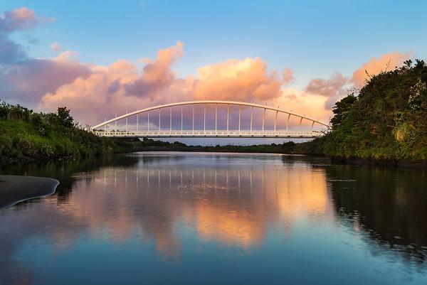 Reflections on Te Rewa Rewa Bridge