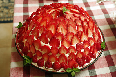 Rita's strawberry pie.