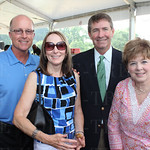 Bob and Bev T, Mark Wheeler of event sponsor Central Bank and Amy Sullivan.