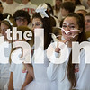 The senior class dresses in all white for homecoming color war day at Thursday, Oct. 22 at Argyle High School inArgyle , TX. (Annabel Thorpe / The Talon News)