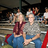 Sandy Stillwell 63 and husband. Sandy rode on the alumni float at halftime