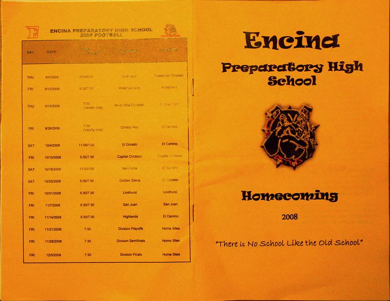 Homecoming 2008 program
