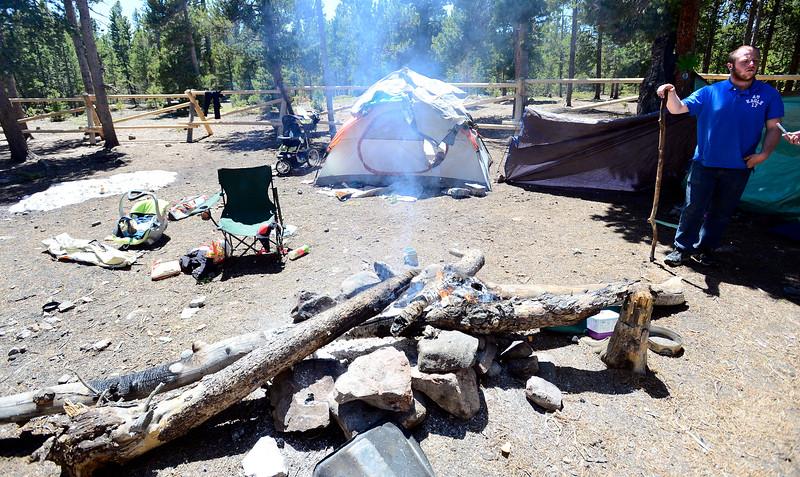 Homeless Camping Outside Nederland