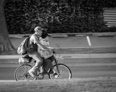 The Street - homeless father and daughter on bicycle - 2