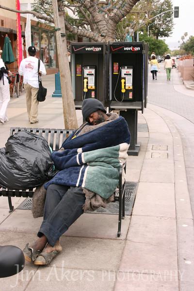 Beauty sleep on the Promenade in Santa Monica