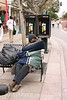 Beauty sleep on the Promenade in Santa Monica