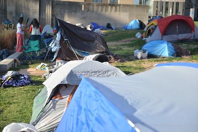 Encampment on south side of City Hall (Kansas City) April 2021. Carlos Moreno photo