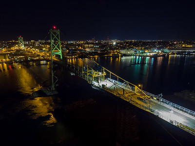 Big Lift at Night - Macdonald Bridge