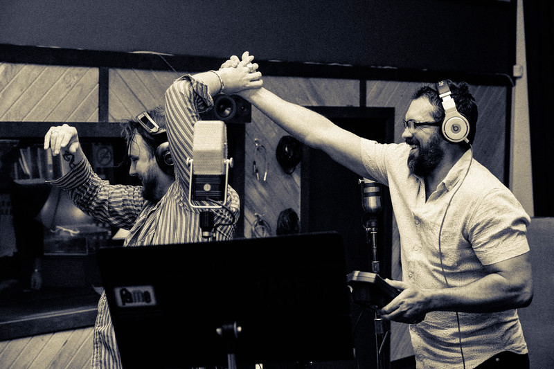 Paul Couther and Dan Dyer with The Texas Gentlemen at Fame Studios in Muscle Shoals