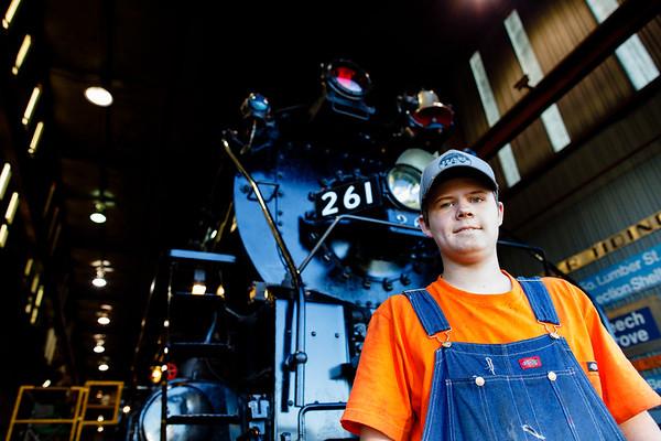 Teenage Railman Hunter Howe