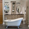 Bathroom vignette in Studio 41 showroom