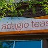 Storefront sign for Adagio Teas. Naperville, IL.