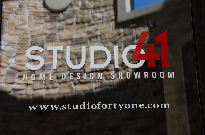 Studio 41 showroom storefront. Naperville, IL