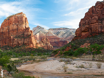 Angel's Landing and the Virgin River in Zion National Park