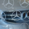 Mercedes logo at Loeber Motors.