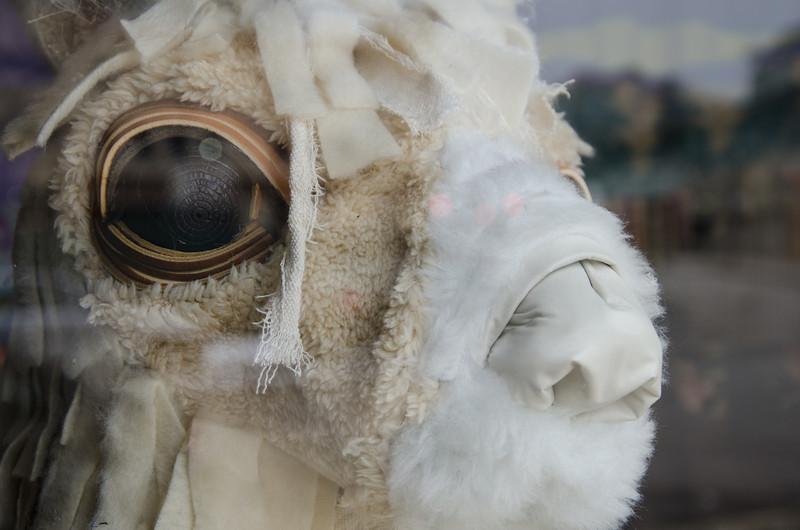 Llama sculpture at Roman Susan Gallery