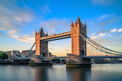 Sunset Colors On London's Tower Bridge