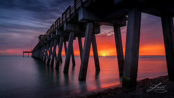 The Most Amazing Sunset at the Pier in Venice, Florida