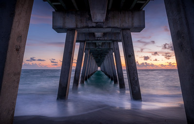 Under the Fishing Pier in Venice, Florida
