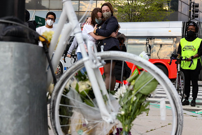 Memorial bike ride for cyclist killed by vehicle in Washington, D.C.