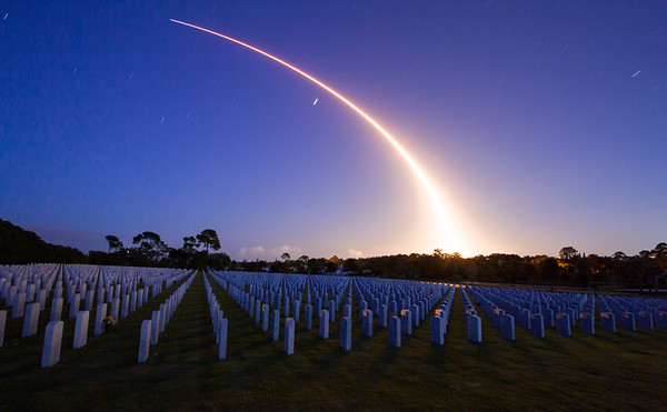 Falcon 9 Rocket Cape Canaveral National Cemetery November 5th 2020